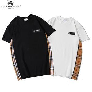 Nuevos 2020 Mens de la manera marca de diseño Camisetas para mujer de cartas camiseta de alta calidad de la impresión del oso unisex ocasional de la camisa de polo de algodón T Q7