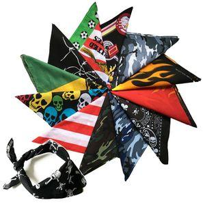 hip hop national flag square scarf outdoor headdress riding square scarf multi-functional street dance Euro scarf Bandanas mask LJJA3996