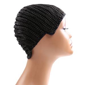 Вязание крючком парик шапка легко шить в Cornrow парик Cap для изготовления париков растяжения 52-66 см супер Ealstic Cornrow Cap черный 5 шт. / Лот