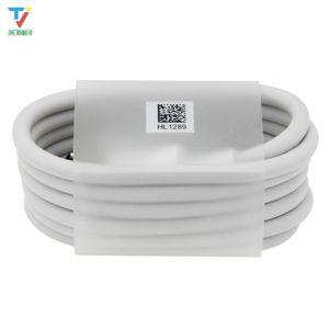 100 pçs / lote 1 m typec super cabo de carregamento de dados branco redondo tipo-c usbc cabo do carregador de dados para samsung sony xiaomi