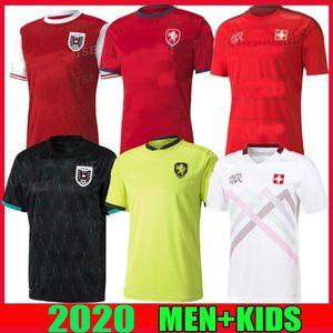 2020 2021 Suisse maillots de football Suisse maison loin euro Tchèque 20 21 Autriche hommes maillots de l'équipe nationale de football chemises qualité thaïlande