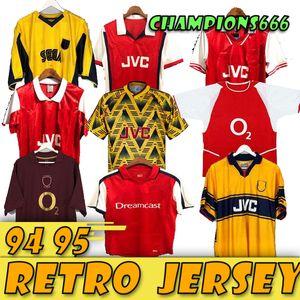 Retro camisetas de fútbol camisas PIRES HENRY V. Persie Fabregas Rosicky REYES VIEIRA Bergkamp fútbol 05 06 94 91 93 98 99 02 04 07 08