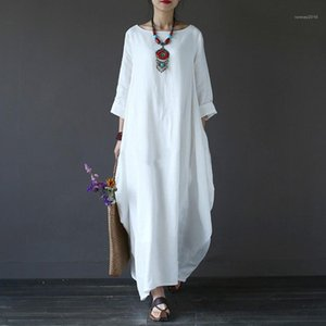 Womens Vestidos O-Neck Casual Mulheres Designer Vestido Moda Verão confortável do balanço Ladies Clothing Big solto