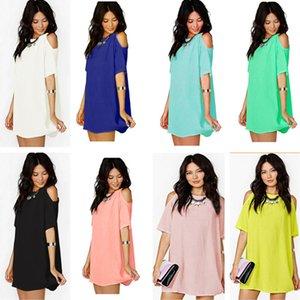 Women Blouses Clothes Loose shirt short sleeve chiffon dress Designer Casual Fashion Short Sleeve T-shirt Round Neck Tees Top S-XXXL CZ605