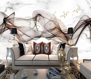 Personalizado 2020 3D papel de parede para crianças Sala de estar cozinha quarto wallpaper linhas 3D Murais pinturas decorativas Abstract