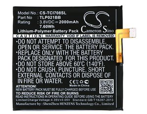 Cameron Sino 2000mAh Battery TLP021BB for TCL i708U, i709M