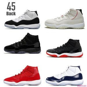 Classic 11 space jam 11s concord 45 back 23 Platinum Tint lows gamma legend blue men basketball shoes sneakers Good Quality Version