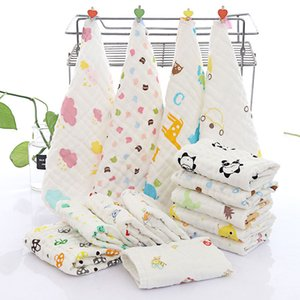 30*30cm Baby Kids Cartoon bath Cotton Face Towel Burp cloth Natural Soft Absorbent 6-layer Gauze Square Safe Skin Friendly Free Shipping