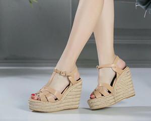 yüksek kalite! dana derisi kayış kama 10.5cm platformu sandalet siyah karamel kahverengi bej rugan seksi 2020040602y 40 hakiki deri
