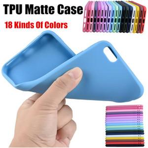 İnce Kapak iphone 6 7 8 artı XS XR Pürüzsüz Tasarım Yumuşak TPU Silikon 18 Çeşit Şeker Renk Telefon Arka Kapak Kılıf