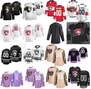 Kundenspezifischer Name Florida Panthers Eishockey 68 Mike Hoffman Trikots Männer Goldene Edition 3 Keith Yandle 10 Brett Connolly 21 Vincent Trocheck