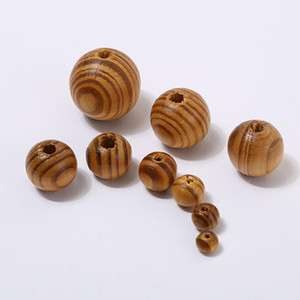 Natural Wood Color Round Wooden Beads 6mm 8mm 10mm 12mm High Quality Lead-free Wooden Beads DIY Jewelry Accessories Wholesale
