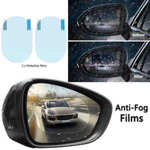 2 piezas de Ronda ala del coche del espejo retrovisor de la película contra la niebla lluvia Protector de la película impermeable a prueba de lluvia suave Borrar Cine Accesorios para automóviles