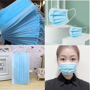 DHL Free Shipping 2000 pcs Disposable Face Masks Thick 3 Ply Breathable Masks with Earloops Salon Home Comfortable Designer masks