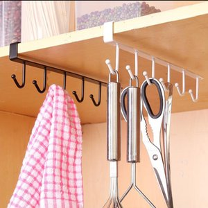 Kitchen Storage Rack Wardrobe Hook Door Hanger Clothes Hanging Rack Holder Kitchen Organizer Closet Shelf Wall Hanger Coat
