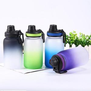 gradiente 740ml di plastica sport bottiglia di acqua a un solo strato di plastica Waters Plastic Cup Alcol bottiglia colorata diritta bottiglia di trasporto