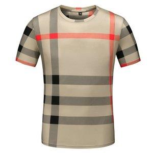Mode été personnalisée Thin Elastic Force col rond hommes à manches courtes Impression 3D designer de luxe T-shirt