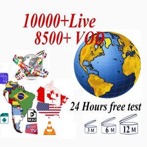 글로벌 TV 10000 + 라이브 유럽 프랑스 영국 미국 캐나다 아랍어 NL 스웨덴 아라비아 스페인 안드로이드 아이폰 OS 스마트 TV 메가 박스 M3U