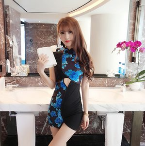 Femmes Sexy Bodycon traditionnel cheongsam Combiné Ouest chinois Ethnic China Town Nightclub travail Pub danse Vêtements Vêtements Robes c1