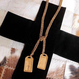 Ter selos marca de Moda Colar cinturão Mulheres 14k correntes de ouro festa Amantes Do Casamento Noivado Jóias De Luxo Para A noiva