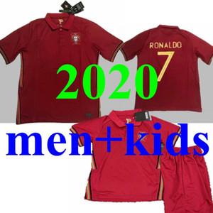 로날도 남자 아이 축구 유니폼 JOAO FELIX 2020 2021 포르투갈 축구 셔츠 (20) (21) 오 Guedes Camisa 드 Futebol 팀 카르발류 타이츠 드 발