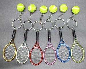 판촉 선물을 광고 시뮬레이션 테니스 열쇠 고리 가방 펜던트 창조적 인 테니스 라켓 스포츠 선물