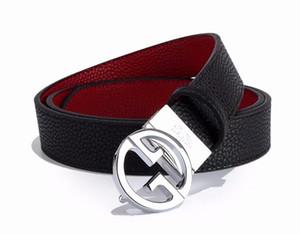Glatte Schnalle Gürtel Top-Qualität Herrengürtel für Männer Hochwertige Echtleder Mann PU Gurtband Cowboy Gürtel versandkostenfrei