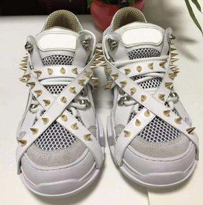 Шипы Flashtrek дизайнер кроссовки с шипами съемные шипы мужские Роскошные дизайнерские туфли мода повседневная дизайнерская Женская обувь кроссовки s2