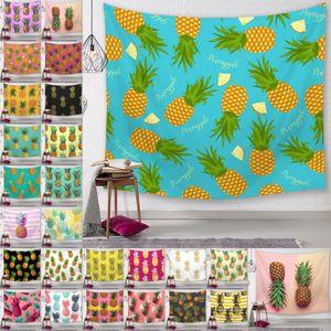 파인애플 시리즈 벽 태피 스 트리 디지털 인쇄 파인애플 비치 타월 목욕 타월 홈 장식 식탁보 야외 패드 150 * 130cm
