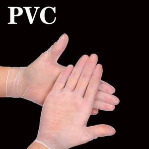 Disposable PVC Gloves Protective Bubber Gloves 100 Pairs per Lots See Throgh Protective Gloves Size S M L