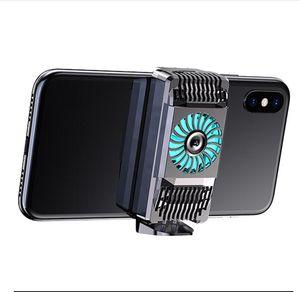 Portátil Cooling Fan Jogo Mobile Phone refrigerador Jogo do dissipador de áudio Aux Radiator Suporte para iPhone / Samsung / Xiaomi Acessórios