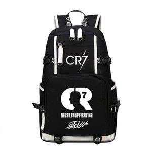 حقائب كبيرة رونالدو حقيبة الظهر الرجال cr7 سفر المرأة سعة قماش ميسي حقيبة بوي فتاة المدرسة للطلاب عارضة حقيبة الظهر