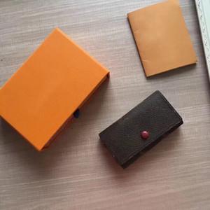 6 porta-chaves Moda Mulheres Key Case Titular Luxo bolsa bolso Organizador Pochette Acessórios M62630