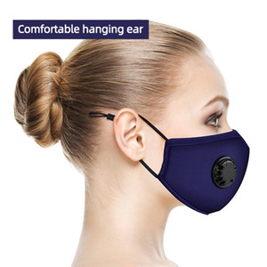 Respirar válvula do filtro máscaras podem adicionar filtro Máscaras almofada de algodão retráteis Corda Models Dustproof filtro Máscara grátis DHL