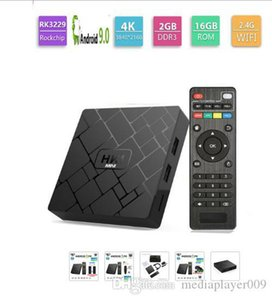 Hk1 Mini TV Box Android 9.0 RK3229 Dört Çekirdekli 2GB RAM 16GB ROM H.265 HEVC 2.4G Wifi 4K 100m lan portu