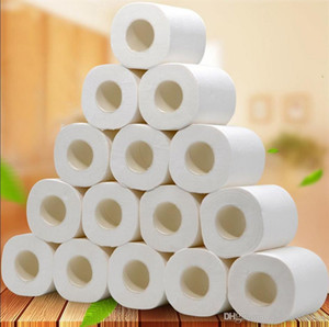 10 Рулоны Fast Доставки рулона туалетной бумаги слоев бумаги Главная Ванна Туалет рулонной бумаги Primary древесины Целлюлозно туалетной бумаги ткани Рулон FS9504