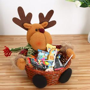Natale Decorazioni di Natale Candy Basket archiviazione Babbo Natale decorazione cestino di immagazzinaggio regalo di Natale Ornamenti Dropshipping