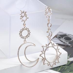 Koreanische Version des 2020 Art und Weise neue Ohrringe Einfache Sonnengott Mond Gott Asymmetrische Exaggeration Ohrringe Damen Großhandel