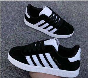 2019 Nueva venta Chilren Shoes Gazelle Suede Low Cut Casual Flat Shoes Sneakers para Unisex Zapatillas Walking Shoes Trainers 25-36