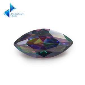 Tamaño 3x6mm ~ 10x20mm Color de la mezcla Multicolor Cubic Zirconia Marquise Corte suelto CZ Piedra Gemas sintéticas