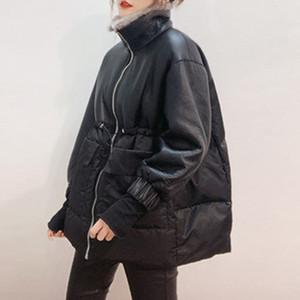 Genuiner Leathe primavera 2020 grama nova pele de cordeiro couro coreano tamanho grande casaco de pele mulheres costura jaqueta warm
