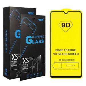 9D Full Cover in vetro temperato per Samsung A10 A20 A A20 A A30 A30 A50 A70 A70 A90 Galaxy M10 M20 M30 nero rinforza Protector