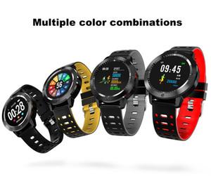 CF58 relógio inteligente IP67 à prova d 'água de vidro temperado rastreador de atividade de fitness monitor de freqüência cardíaca esportes smartwatch