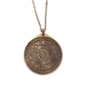 Vintage Sceaux Des Sept Archanges Pendentif Religieux Amulette Rune Hommes Et Femmes Collier