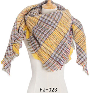 New style autumn and winter warm scarves pashmina for lady women's plaid shawl women cashmere Square scarf .
