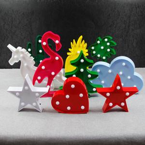 Suministros Eco Friendly Flamingo llevó la luz de dibujos animados del unicornio cabeza Pineaapple Party decoración de la boda de Navidad linterna