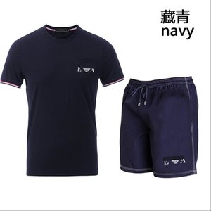 Men Sets Summer Men's Tracksuit Clothing Male Short Sleeve + Shorts 2 Pieces Printed Male Set Men's outdoor sports suits
