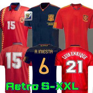 final de 2010 España Jersey retro 1994 de la Copa Mundial RAUL XAVI Hierro LUIS ALONSO XAVI ENSRIQUE Caminero Iniesta PUYOL PIQUE DAVAD David Villa