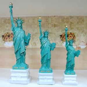 Özgürlük Heykeli Modeli El Sanatları ABD'nin Turizm eşyalar Ücretsiz Tanrıça Avrupa Reçine Retro Süsler Ev Mobilya Y200106