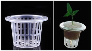 B-PACK 100PCS gros Mesh Pot basket avec Clonage Collier mousse pour Nursery aéroponique légumes Fleur Ensemencement végétaux de culture C